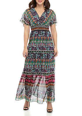 dc0003989 Chris McLaughlin Dolman Sleeve V Neck Maxi Dress ...