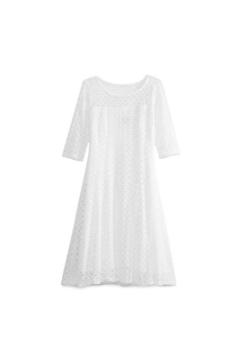 Chris McLaughlin Elbow Sleeve Zig Zag Dress