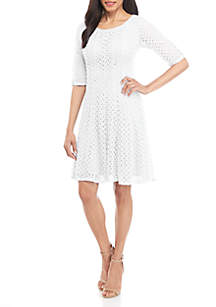 3e0ec99d225 ... Chris McLaughlin Crochet Fit and Flare Dress