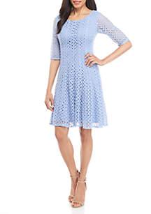 21de9fc8df Kasper Crepe Sheath Dress · Chris McLaughlin Crochet Fit and Flare Dress