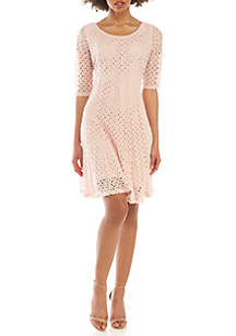 Chris McLaughlin Crochet Fit and Flare Dress