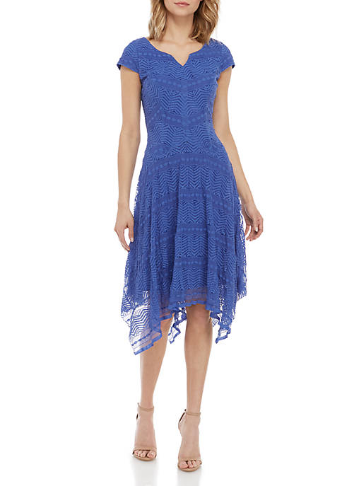 Cap Sleeve Lace Sweetheart Dress