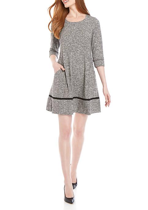 Chris McLaughlin Womens 3/4 Sleeve Heather Jersey Knit