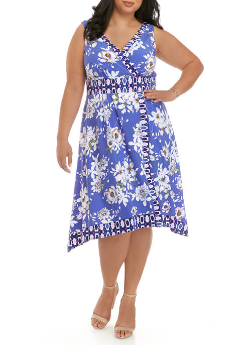 Chris McLaughlin Plus Size Floral and Geo Print