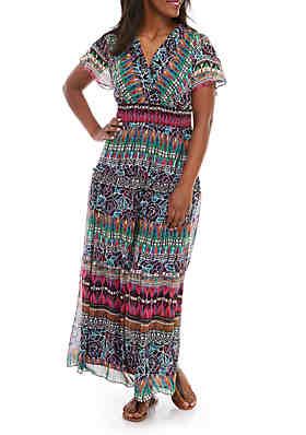 6b76cc689b3f Chris McLaughlin Plus Size Dolman Sleeve V Neck Maxi Dress ...
