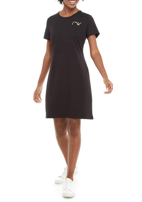 Short Sleeve Logo T-Shirt Dress