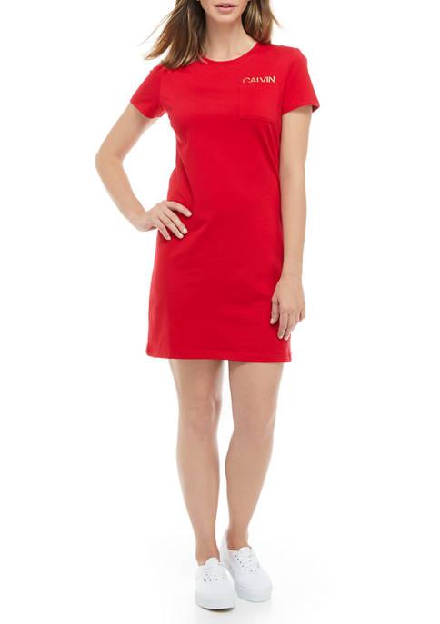 Short Sleeve Small Logo T-Shirt Dress