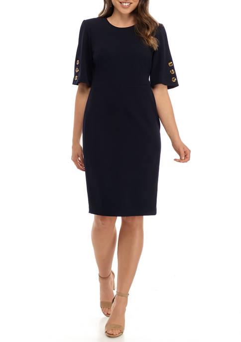 Calvin Klein Womens Short Sleeve Shift Dress