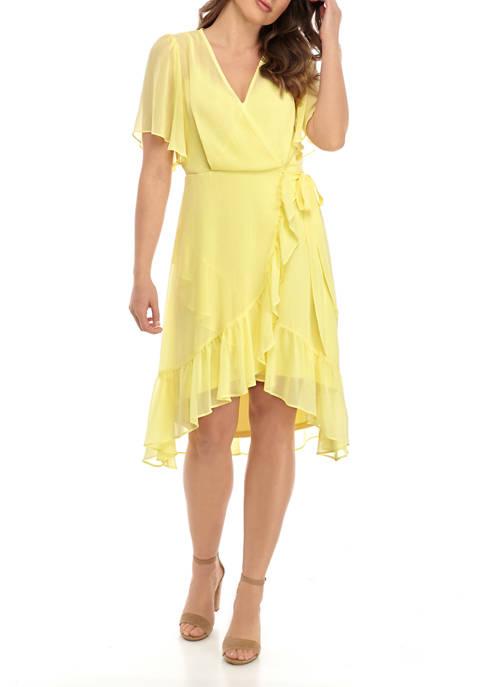 Womens Ruffle Front Dress