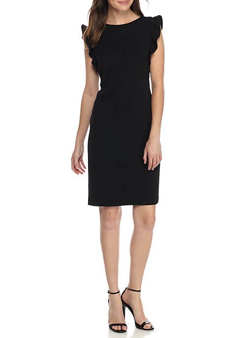 Calvin Klein Ruffle Sleeve Sheath Dress Belk