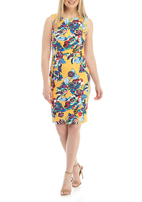 Calvin Klein Sleeveless Printed Shift Dress