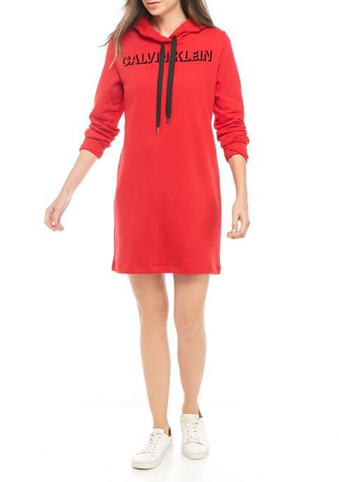 Womens Logo Front Sweatshirt Dress