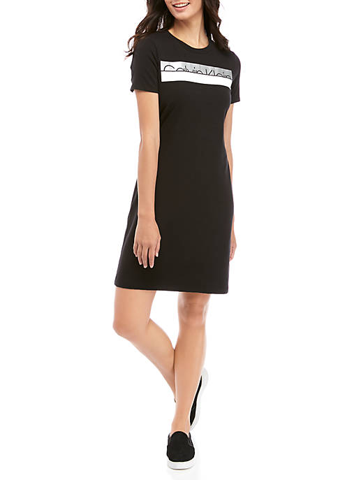 Calvin Klein Womens Short Sleeve Black Logo T-Shirt