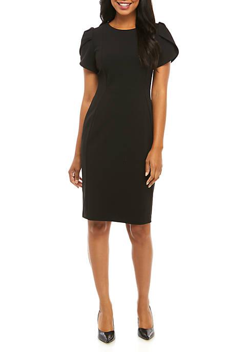Calvin Klein Short Split Sleeve A-Line Dress