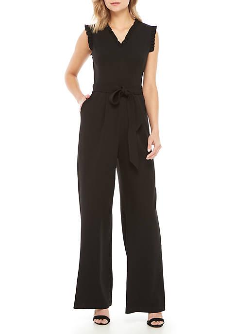 b61d3b61203 Calvin Klein Sleeveless Ruffle Jumpsuit