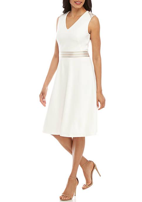 Sleelevess Stripe Waist Dress