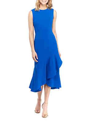8d5a38cc0a Calvin Klein Sleeveless Ruffle Dress ...
