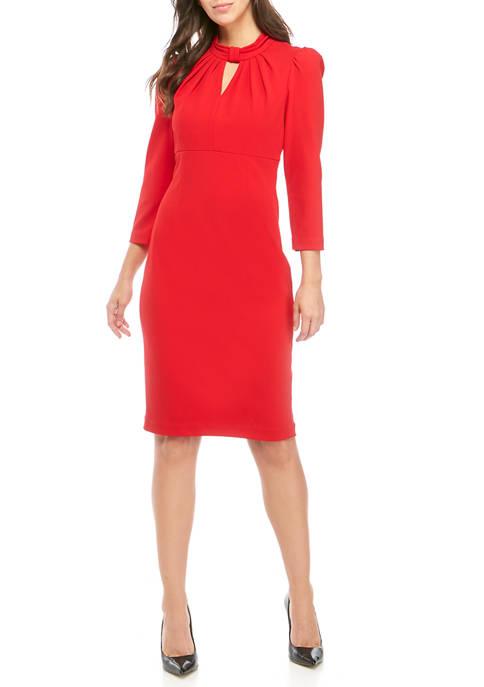 Calvin Klein Womens Quarter Sleeve Twist Neck Gigi