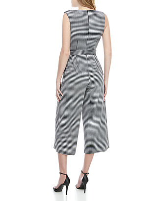 84b871ba2177 Calvin Klein Sleeveless Gingham Print Jumpsuit | belk