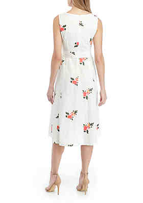 dceb70e0 ... Calvin Klein Sleeveless Eyelet Fit and Flare Dress