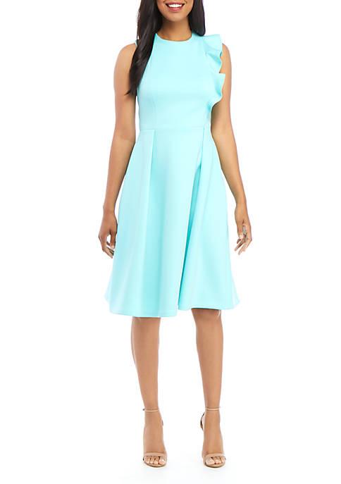 Calvin Klein Sleeveless Scuba A Line Dress with