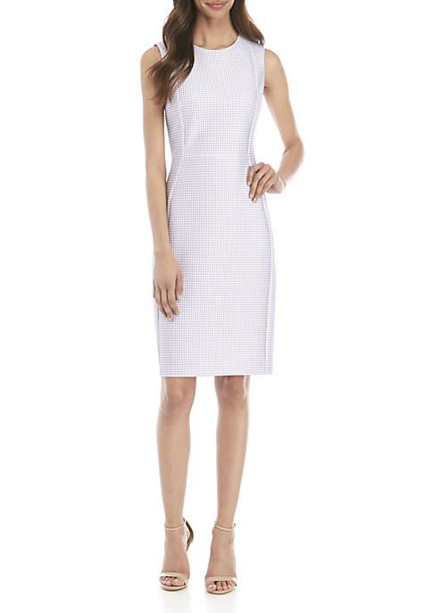 Calvin Klein Sleeveless Gingham Sheath Dress