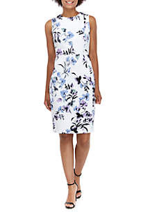 70cb64d7 ... Calvin Klein Sleeveless Floral Sheath Dress