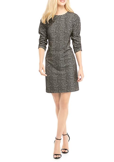 Calvin Klein 3/4 Sleeve Ponte Dress