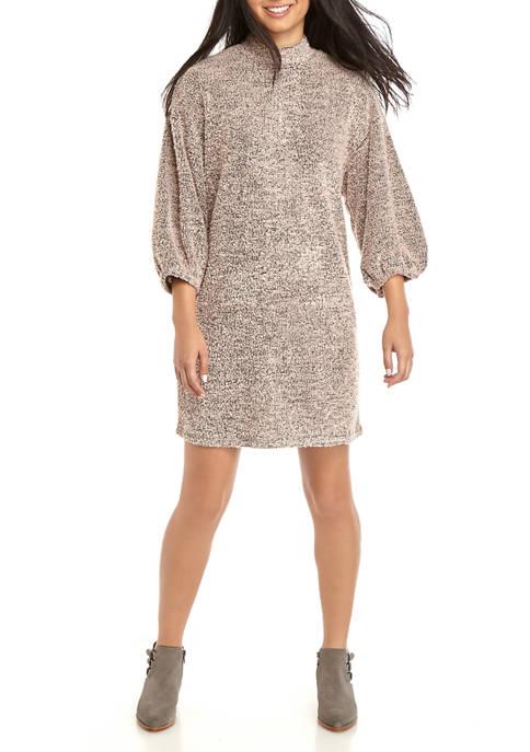 Eyeshadow Juniors Long Sleeve Mock Neck Knit Dress