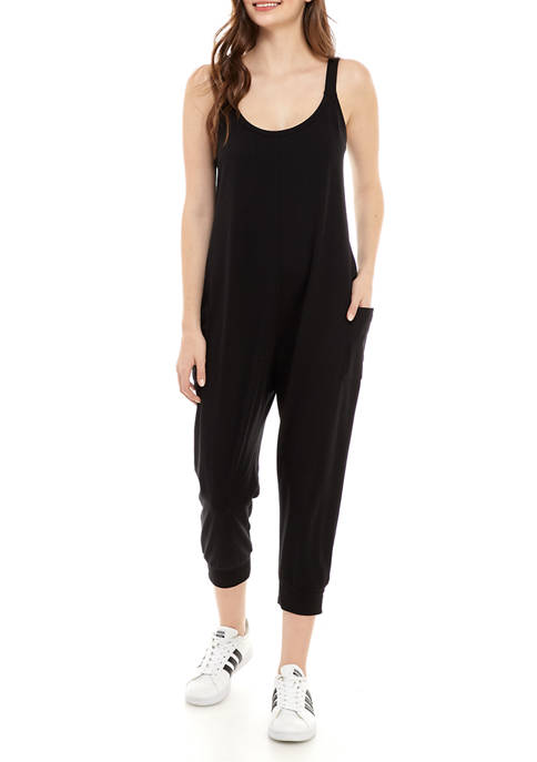 Eyeshadow Juniors Jogger Knit Jumpsuit