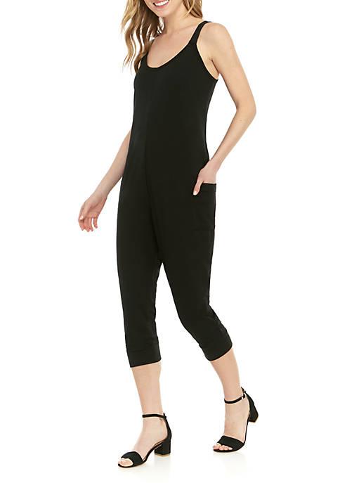 Sleeveless Knit Jogger Jumpsuit