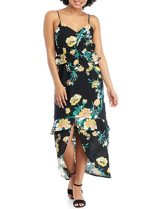 Ruffle Floral Maxi Dress