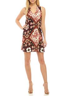 Eyeshadow Sleeveless Woven Swing Dress