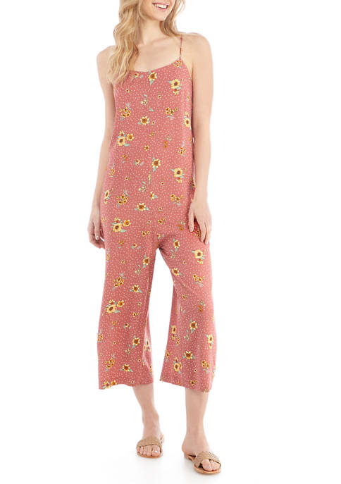 Eyeshadow Juniors Spaghetti Strap Sack Jumpsuit