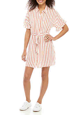 ef9073f68f9 As U Wish Short Sleeve Paper Bag Waist Dress ...