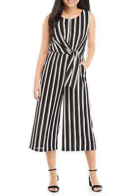 d599042120b As U Wish Sleeveless Stripe Tie Front Jumpsuit ...