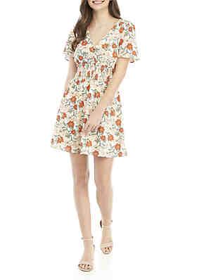 5429070a2f0ae As U Wish V Neck Flutter Sleeve Mini Dress ...