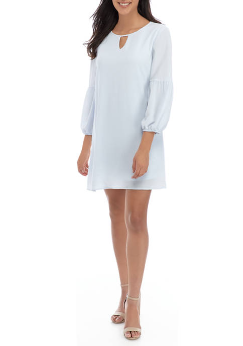 As U Wish Juniors Lantern Sleeve Dress