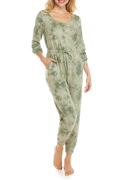 As U Wish Juniors Lounge Tie Dye Jumpsuit