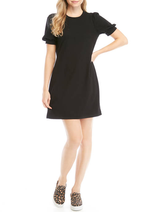 Junior's Short Puff Sleeve French Terry Dress $14.40