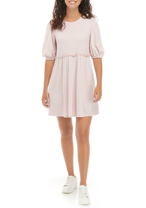As U Wish Juniors Ribbed Babydoll Dress