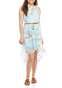 As U Wish High Low Lace Dress with Belt