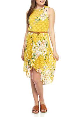 8bb692b6e46 As U Wish High Low Lace Dress with Belt ...