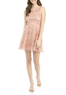 As U Wish Lace Skater Dress