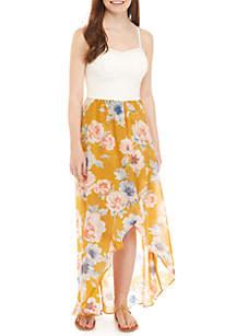 As U Wish Bra Cup High Low Maxi Dress