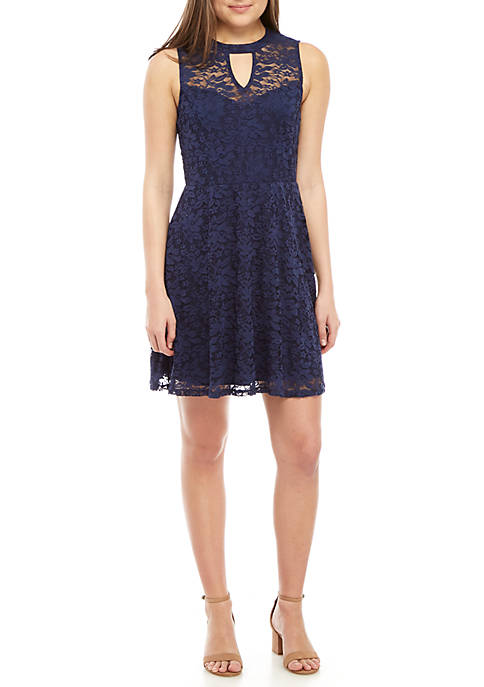 Allover Lace Skater Dress