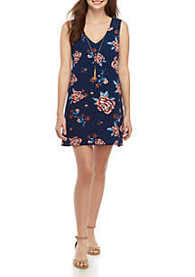As U Wish Sleeveless Floral Dress with Necklace