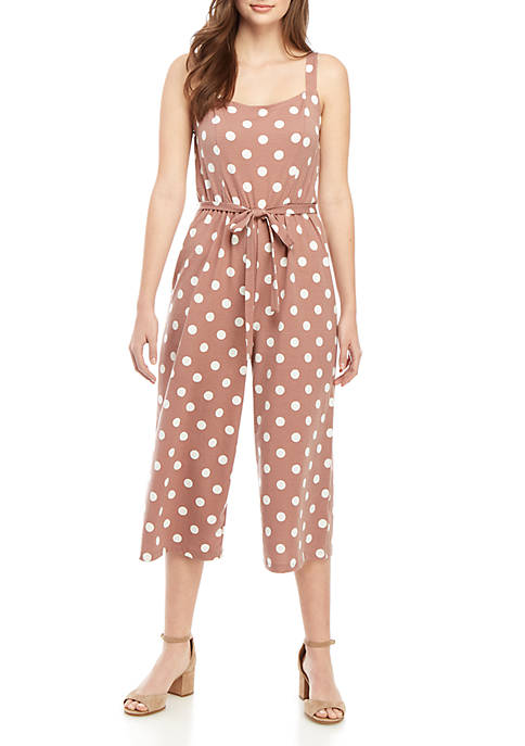 As U Wish Wrap Tank Printed Jumpsuit