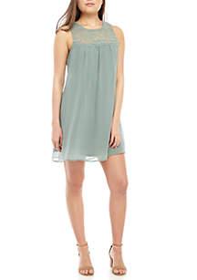 4737c36901 ... Knit Dress · As U Wish Lace Yoke Chiffon Dress
