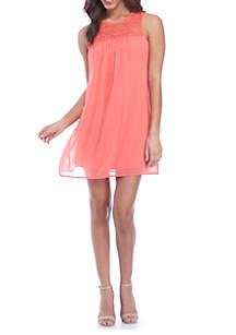 Lace Top Swing Dress